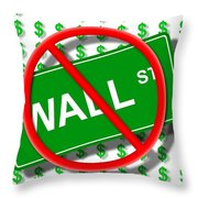 Wall Street No Throw Pillow