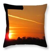 Wall Sunrise Throw Pillow
