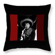 Wallace Berry Collage Viva Villa 1934-2013 Throw Pillow