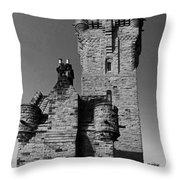 Wallace Monument Monochrome Throw Pillow