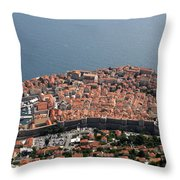 Walled City Of Dubrovnik Throw Pillow