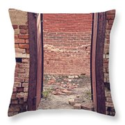 Walled In Throw Pillow