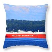 Wallenius Wilhelmsen Logistics Tamerlane Ship Throw Pillow