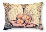 Wallnuts Throw Pillow