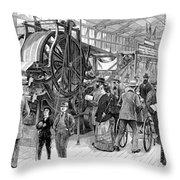 Wallpaper Printing, 1876 Throw Pillow