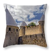 Walls Of Carcassonne Throw Pillow