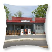 Wallys Service Station Mayberry Throw Pillow