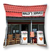 Wally's Service Station Mayberry Nc Throw Pillow
