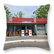 Wallys Service Station Mt. Airy Nc Throw Pillow