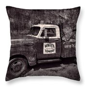 Wally's Towing Bw Throw Pillow
