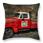 Wally's Towing Throw Pillow by David Arment
