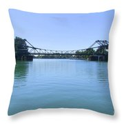 Walnut Grove Bascule Bridge Throw Pillow