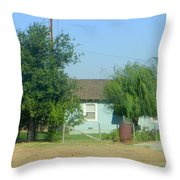 Walnut Grove - Typical Rural Farm House Throw Pillow
