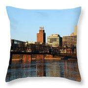 Walnut Street Bridge Harrisburg Pennsylvania Throw Pillow