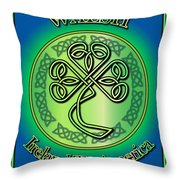 Walsh Ireland To America Throw Pillow