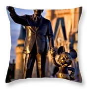 Walt And Mickey Throw Pillow