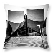 Walt Disney Concert Hall In Black And White Throw Pillow