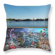 Walt Disney World Cars 2 Digital Art Composite 02 Throw Pillow
