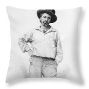 Walt Whitman Frontispiece To Leaves Of Grass Throw Pillow by American School