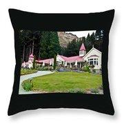 Walter Peak Farm New Zealand Throw Pillow