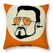 Walter Sobchak Poster Throw Pillow