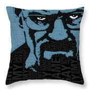 Walter White Heisenberg Breaking Bad Throw Pillow