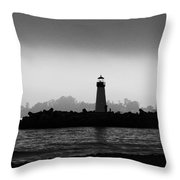 Walton Lighthouse Bw Throw Pillow by Deana Glenz