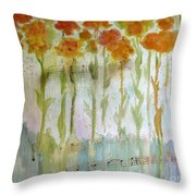 Waltz Of The Flowers Throw Pillow