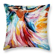 Waltz - Palette Knife Oil Painting On Canvas By Leonid Afremov Throw Pillow