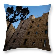 Wandering Around The Streets Of Barcelona Spain Throw Pillow