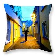 Wandering Woman Throw Pillow