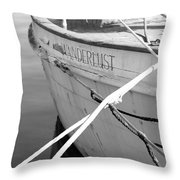 Wanderlust Black And White Throw Pillow