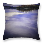 Wanigan View Of Au Sable River Throw Pillow