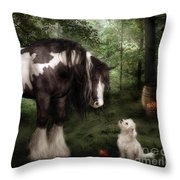 Want To Play Throw Pillow by Shanina Conway