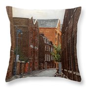 Wapping High Street East London Throw Pillow