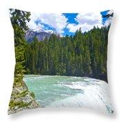 Wapta Falls In Yoho Np-bc  Throw Pillow