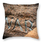 War  Throw Pillow