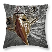 War Eagle Throw Pillow by Donna Proctor