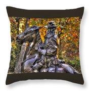 War Horses - Lieutenant General James Longstreet Commanding First Corps Gettysburg Throw Pillow