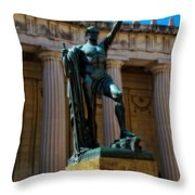 War Memorial Statue Youth In Nashville Throw Pillow