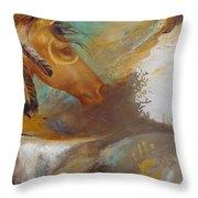 War Pony Throw Pillow