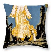 War Poster - Ww1 - Christians Support Red Cross Throw Pillow