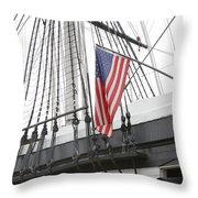 War Ship Throw Pillow