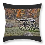 War Thunder - 4th New York Independent Battery Crawford Avenue Gettysburg Throw Pillow