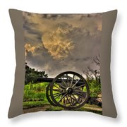 War Thunder - The Clouds Of War 2a - 4th New York Independent Battery Above Devils Den Gettysburg Throw Pillow