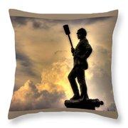 War Thunder - The Clouds Of War - 4th New York Independent Battery Near Devils Den Gettysburg Throw Pillow