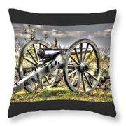 War Thunder - The Letcher Artillery Brander's Battery West Confederate Ave Gettysburg Throw Pillow