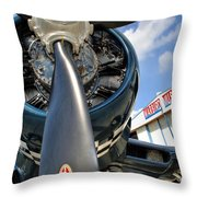 Warbird Museum Throw Pillow