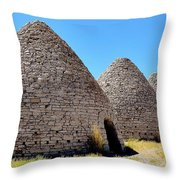 Ward Charcoal Ovens Throw Pillow