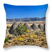 Wards Charcoal Ovens View Throw Pillow